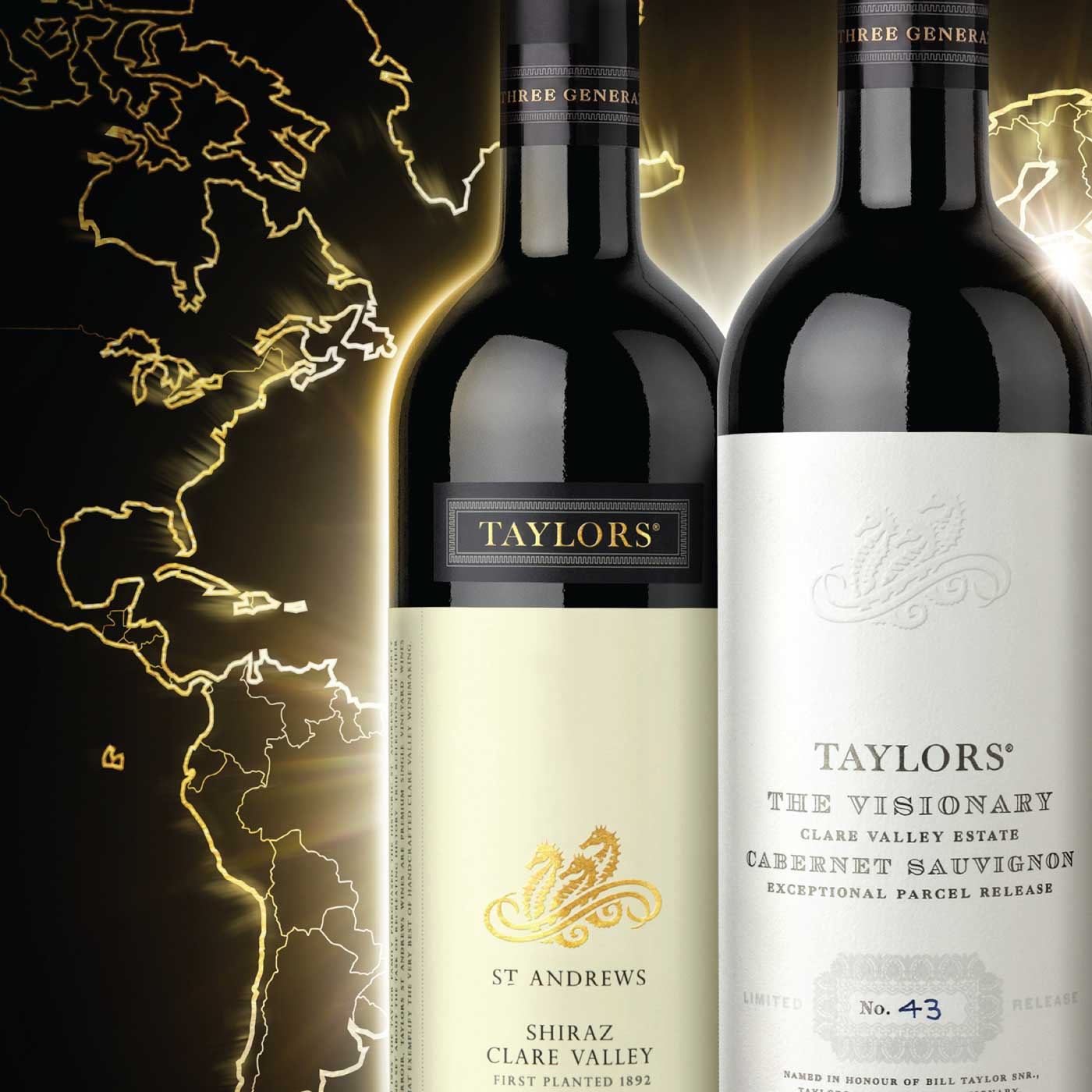 Taylors Worlds most awarded wine campaign tile