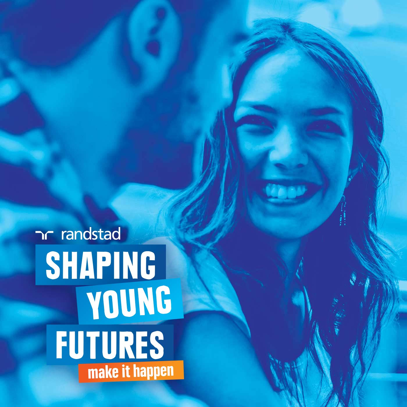 Randstad Shaping Young Futures branding tile